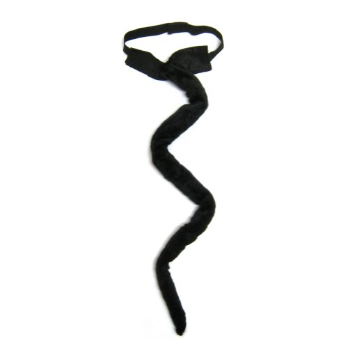 SeasonsTrading Long Black Plush Cat Tail Costume Accessory ~ Halloween Party