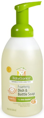 Babyganics Dish Dazzler Foaming Dish and Bottle Soap Fragrance Free -- 18.6 fl oz