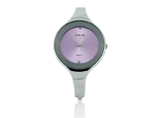 Kimio 2682 Stainless Steel Rounded Bracelet Lady'S Electronic Wrist Watch (Purple) M.