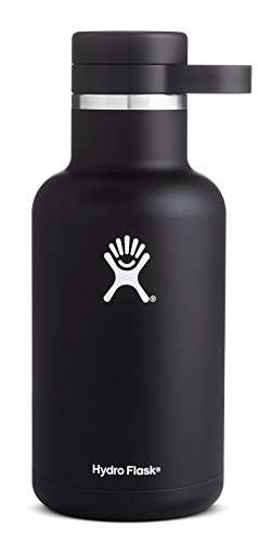 Hydro Flask 64 oz Vacuum Insulated Stainless Steel Beer Growler, Wide Mouth w/Growler Cap, Black (True Flavor Ware compare prices)