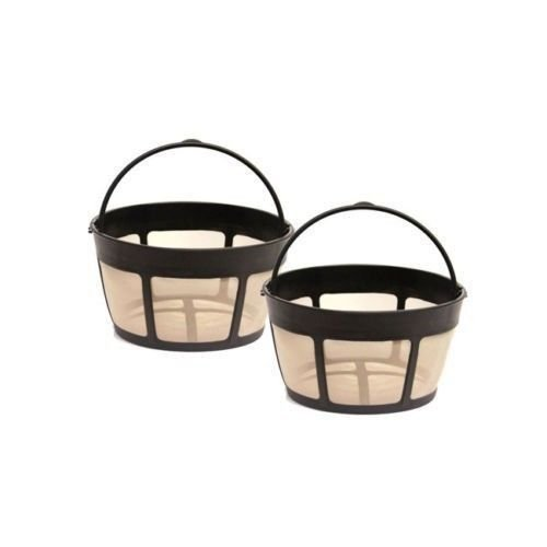 2 PACK Medelco BF215CB 8 To 12-Cup Golden Basket Permanent Coffee Filter (Medelco Percolator Filter compare prices)