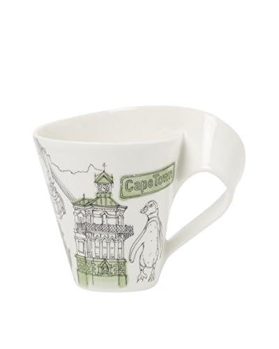 Villeroy & Boch NewWave Caffé 11.75-Oz. Cape Town Mug in Gift Box, Green/White