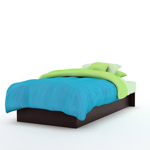 South Shore Libra Twin Platform Bed 39 Inch Chocolate front-760295