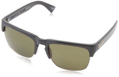 Electric Visual Knoxville Union Es11501642 Polarized Square Sunglasses,Gloss Black,55 Mm