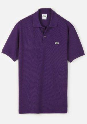 Lacoste Short Sleeve Classic Pique Polo : Raisin Purple (Size S/EUR 4)