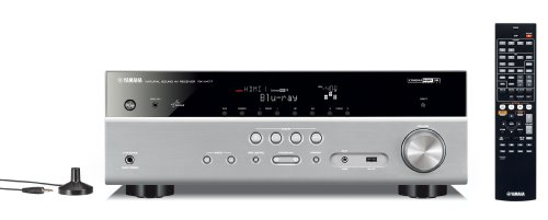 Yamaha RX-V477 AV-Receiver (5.1-Kanal, 115 Watt pro Kanal, HDMI, Airplay, Internetradio, USB, DLNA, Dolby TrueHD) titan