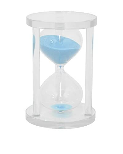 Three Hands Sand Timer 20 Minutes, Clear/Blue