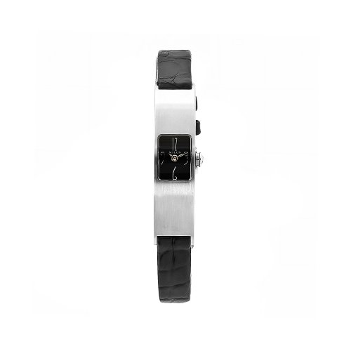 Milus Women's ERI002 Eridana Alligator Strap Black Dial Watch