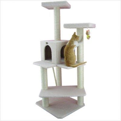 Armarkat B5701 57-Inch Cat Tree, Ivory