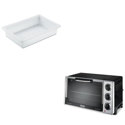 Kitdloro2058Rcp3508Whi - Value Kit - Rubbermaid-White Food Boxes; 8 1/2 Gallon 8 1/2 Gallon (Rcp3508Whi) And Delonghi Convection Oven W/Rotisserie (Dloro2058)
