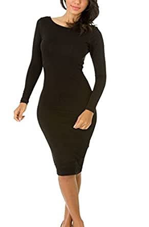 lecheers skin tight dress pencil skirt sleeved