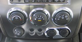 Hummer H3 Hummer Chrome Billet Climate Control Bezels, 3 pc. Set 2006, 2007, 2008, 2009, 2010