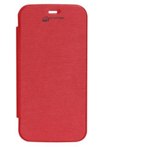 EXXONINC Premium Flip Cover Case for Micromax Yureka Yu YUREKA AO5510 Mobile (red)