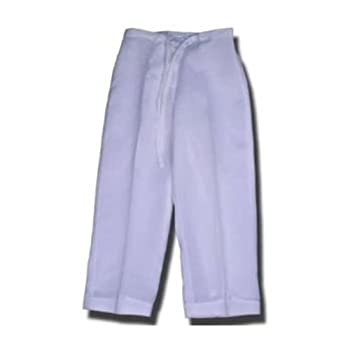 100% linen drawstring pants for girls
