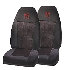 2 front seat covers red dodge ram logo. Cars Review. Best American Auto & Cars Review