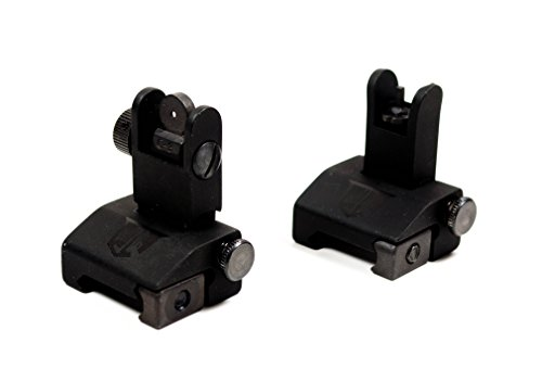 Flip Up Backup Battle Sights by Ozark Armament Picatinny Mount AR Pattern Flat-top Upper Co-Witness Iron Sights BUIS (Backup Iron Sights compare prices)