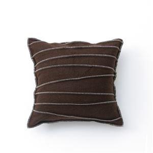 Basic Cushion cover '/ bag C cover LS ' Brown 45 x 45 cm