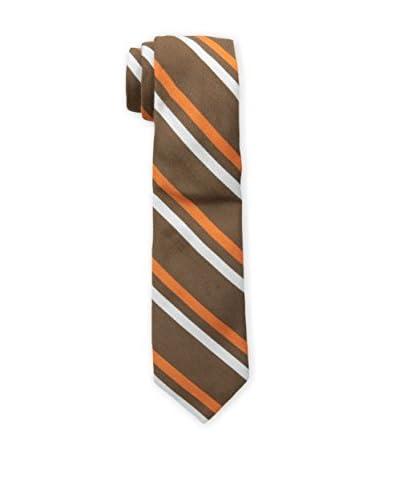 Jonathan Adler Men's Woven Striped Tie, Brown