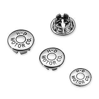 Chrome H-D? Motor Co. Logo Allen Hole Plugs