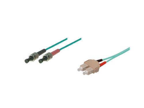 kabelmeister® Patchkabel LWL Duplex OM3 (Multimode, 50/125) ST/SC, 0,5m