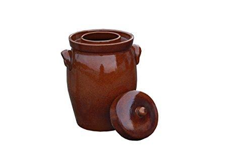 Pot de fermentation - 10 L étanche - véritable d'alimentations et facile à se nettoyer - les pierres de poids incluses
