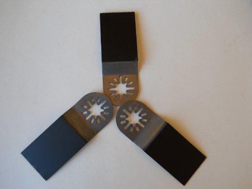 3 Pack Ecut Bi-Metal Oscillating Tool Universal Blade For Fein Multimaster ®, Dremel Multimax ®, Craftsman, Ridgid, Bosch, Chicago, Milwaukee, Etc.