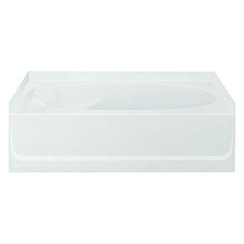 Sterling Plumbing 71111122-0 Ensemble Bathtub, 60-Inch x 42-Inch x 18.25-Inch, Right-Hand, White (Tub 60 Gallon compare prices)