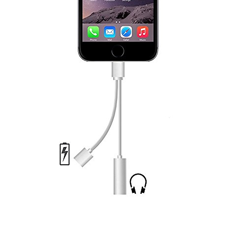 Onway Lightning Port Adapter Charge Jack 3.5 mm Audio Interface Headphone Connector Converter Cable For IOS Devices iPad iPod iPhone 7 7 Plus 6 6s Plus (Split Iphone Charger compare prices)