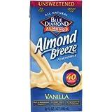 Blue Diamond Almond Breeze - Unsweetened Vanilla - 32 oz