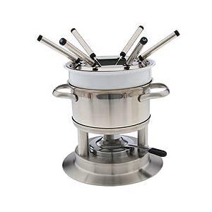 Swissmar Arosa 11 Piece Stainless Fondue Set (Stainless) Cookware Sets