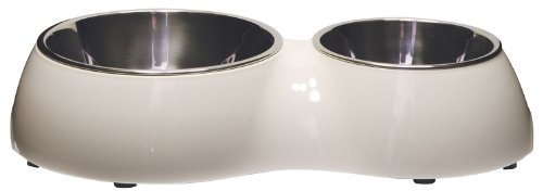 Catit Double Diner, White (Double Food Dish compare prices)