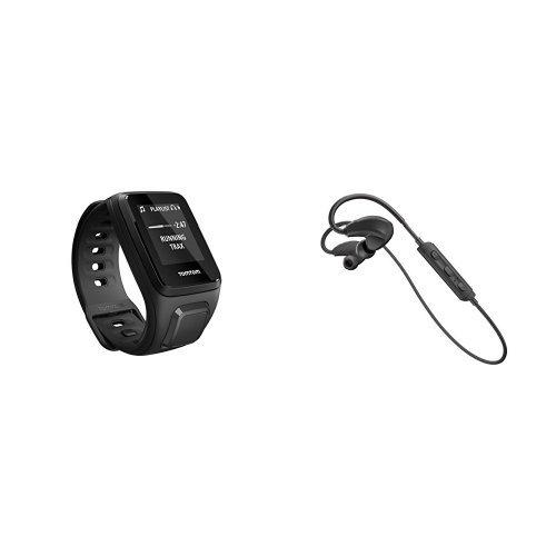 Tomtom Spark Music - Reloj deportivo, color negro, talla S + Auriculares deportivos