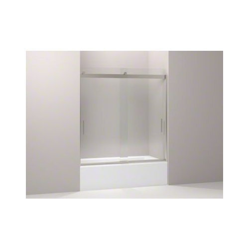 KOHLER K-706000-L-MX Levity  Bypass Bath Door with Handle and 1/4-Inch  Crystal Clear Glass in Matte Nickel (Kohler Tub Shower Doors compare prices)