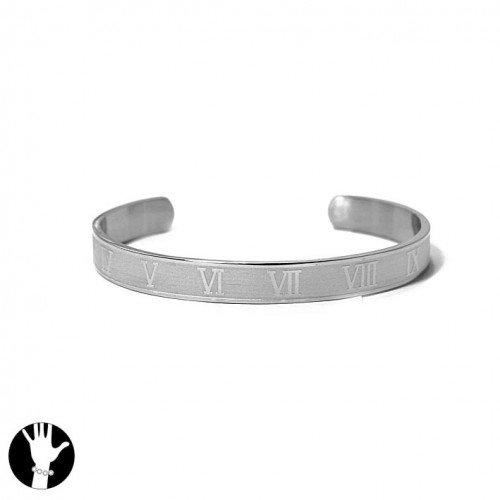 SG Paris Rigid Bracelet For Men Steel Argente Bracelet Rigid Bracelet Stainless Steel the Essential Man Hom-Actua the Essential Z Others