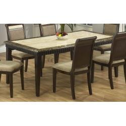 Buy Low Price Armen Living B993 51″ Round Dining Table in Corallo and Imperador Marble / Espresso – Armen Living – B993-DTABLE-1 (B993-DTABLE-1)