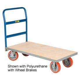Little Giant® Armor Frame Wood Platform Truck, 30 X 60,Pneumatic Wheels