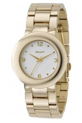 DKNY Steel Bracelets Gold-tone White Dial Women's watch #NY4876