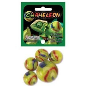 Chameleon Game Net Set Glass Mega Marbles (25 Piece)