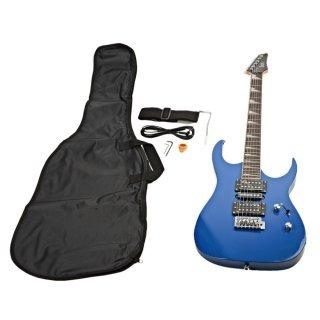 Moppi Abstand 170 HSH akustische Pritsche professionelle e-Gitarre blau mit Zubehör bestellen
