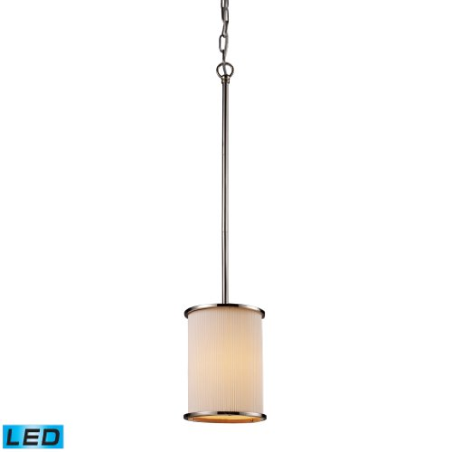 Lureau 1-Light Pendant And Fabric Shade - Led Offering Up To 800 Lumens (60 Watt Equivalent) With Full Range Dimming. Includes An Easily Replaceable Led Bulb (120V).