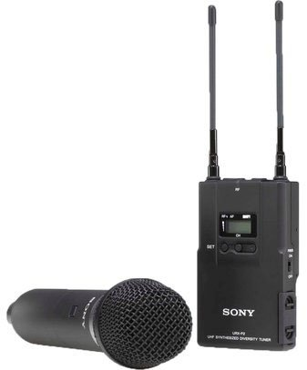 Sony Uwpv2 Handheld Microphone Tx And Portable Rx Wireless System, Operating On Tv Channels 42 To 45