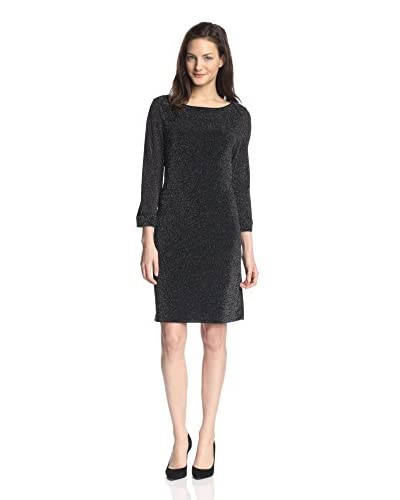 Marc New York Women's Square Neck Shift Dress  [Black]