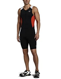 Pearl Izumi Men's Select Tri Suit, Black/True Red, Medium