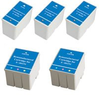 Amsahr 0189 Remanufactured Replacement Epson Ink Cartridges for Printers/Faxes with 3 Black and 2 Color Cartridges Ink