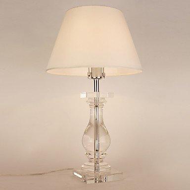 60W E27 Lampada da tavolo con paralume bianco e lampada di cristallo Carrier