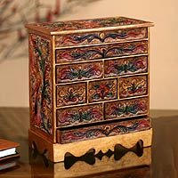 wood and leather jewelry box