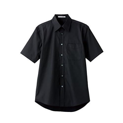 (フェイスミックス)FACEMIX ブロードレギュラーカラー半袖シャツ FB4527U 16 ブラック 4L