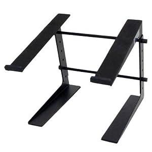 seismic audio coms1 table top or desk laptop stand steel rack for laptop. Black Bedroom Furniture Sets. Home Design Ideas