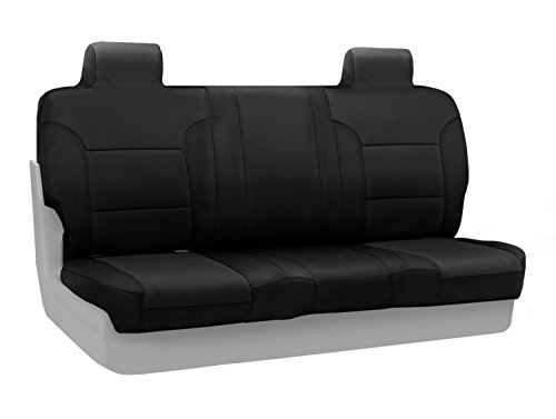 Coverking Custom Fit Front 50/50 Bucket Seat Cover for Select Ford F-Series Models - Neosupreme Solid (Black) (Tall Bucket Seat Covers compare prices)