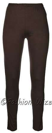 Girls Plain Leggings 2-3yrs 3-4 yrs 5-6yrs 7-8yrs 9-10yrs 11-12yrs 13yrs (11-12 Years, Brown)